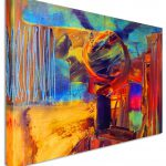 Large Abstract Painting Halo Canvas Wall Art