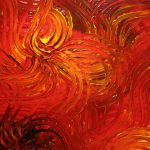 Large Red Abstract Painting Textured Wall Art Original Passionate Home Office Decor