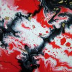 Large Red White Black Abstract Art Original
