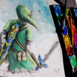 Legend Zelda Link Watercolor Time Lapse Painting Adventure Awaits