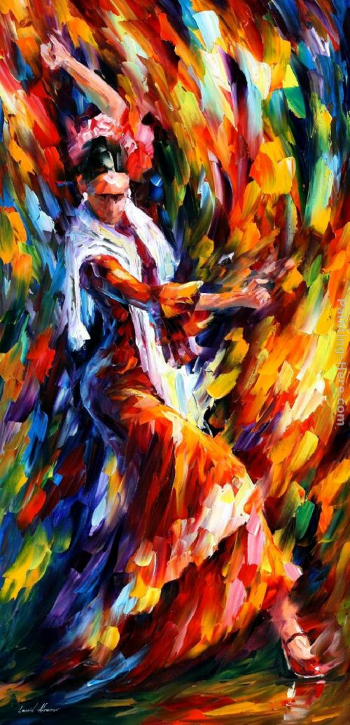 Leonid Afremov Flamenco Dancer Painting Anysize