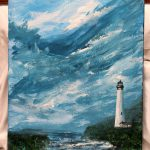 Lighthouse Acrylic Painting Stretched