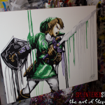 Link Legend Zelda Painting Super Smash Bros Art Splintered