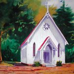 Little Country Church Painting Chuck