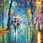 Little Friend Palette Knife Oil Painting Canvas Leonid