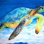 Loggerhead Sea Turtle Painting Ken