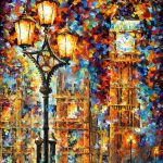 London Dreams Palette Knife Oil Painting Canvas Leonid