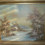 Looking Find Value Inness Oil Painting Certified Home Galleries