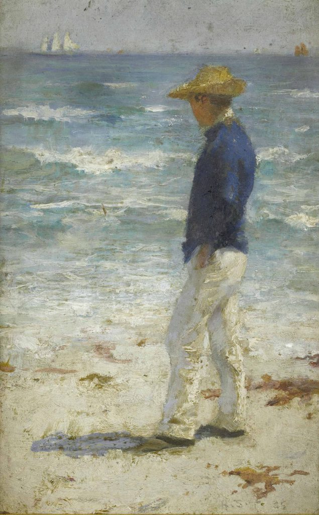 Looking Out Sea Henry Scott Tuke Framed Wholesale China Oil Painting