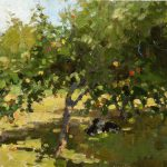 Lost Coast Daily Painters Apple Tree Oil Sketch Jim