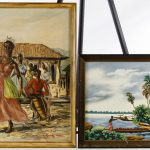 Lot Haitian Oil Canvas Paintings Leonard Auction