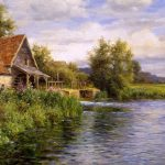 Louis Aston Knight Cottage River Painting Anysize