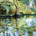 Louisiana Landscape Painting Swamp Pond