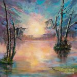 Louisiana Sunset Painting Dianne