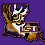 Lsu Louisiana Tiger Eye Painting Stacey