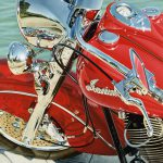 Luster Art Exhibit David Wagner Feature Cook Motorcycle