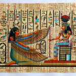 Maat Isis Ancient Egyptian Papyrus Painting