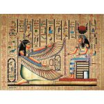 Maat Isis Ancient Egyptian Papyrus Painting Liked Polyvore Featuring Home