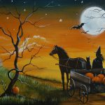 Magic Brush Studio Original Halloween Painting Canvas Bay