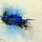 Magical Blue Abstract Art Painting Ismeta