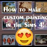 Make Custom Painting Sims