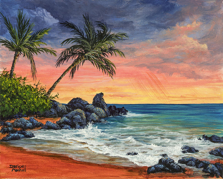 Makena Beach Sunset Painting Darice Machel