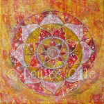 Mandala Paintings Louise Gale Mixed Media Botanical Color