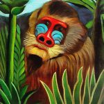Mandrill Jungle Painting Henri