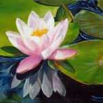 Marina Petro Adventures Daily Painting Lotus Water Lily Pond Floral