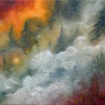 Marina Petro Adventures Daily Painting Wildfire Forest Wild Fire Landscape