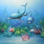 Marine Life Animals Arts Oil Paintings