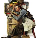 Marmont Hill Law Student Norman Rockwell Painting Print Wrapped Canvas Reviews