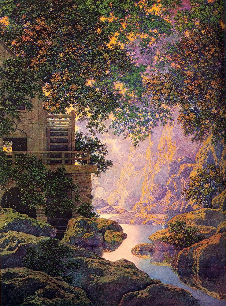 Maxfield Parrish Old Glen Mill Painting Framed Paintings