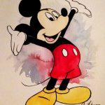 Mickey Mouse Print Art Painting