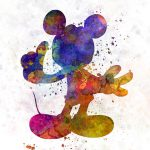 Mickey Mouse Watercolor Painting Pablo