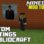 Minecraft Bibliocraft Custom Paintings Modded Tutorial Mods
