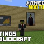 Minecraft Bibliocraft Paintings Modded Tutorial Mods