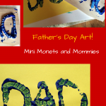 Mini Monets Mommies Father Day Wood Print Art