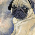 Miss Puggles Painting Suzanne
