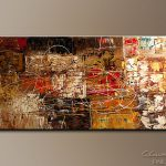 Modern Abstract Art Painting Avant Garde Stretched Contemporary Paintings