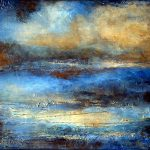 Modern Abstract Landscape Painting Heavy Texture Cloud Drifter Holly