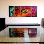 Modern Abstract Paintings Contemporary Home Office New York Osnat Fine