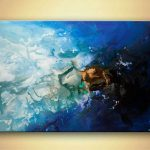 Modern Blue Abstract Art Acrylic Painting Osnat