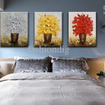 Modern Flower Oil Painting Canvas Thick Abstract Handmade Home Office Wall Art