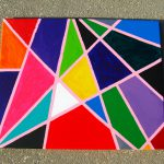 Modern Geometric Art Multicolored Abstract Painting