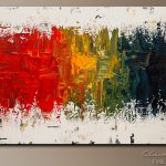 Modern Original Large Painting Contemporary Abstract Art Cguedez
