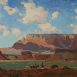 Modernist Western Landscape Paintings Utah Based Russell