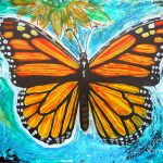 Monarch Butterfly Painting Genevieve