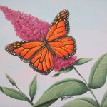 Monarch Butterfly Painting Original