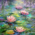 Monet Painting Lily Pads Beautiful Water Lilies Ideas